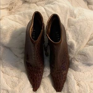 Lauren Ralph Lauren Shoes - Lauren, Ralph. Lauren Brown Booties. Size 5.
